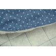 Quilted jeans in white dots 2mm on a dark blue background