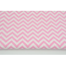 Cotton 100% medium zigzag pink