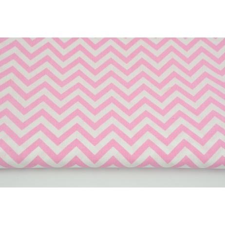 Cotton 100% medium zigzag pink