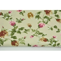HOME DECOR, HD buds of roses on a beige background