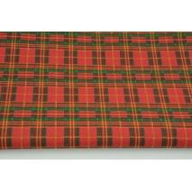 Bawełna 100% szkocka kratka czerwono-zielona