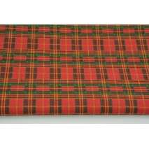 Cotton 100% Scottish check red-green