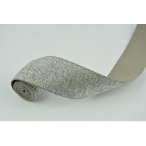 Rubber with lurex 40mm gray with silver thread
