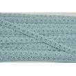 Koronka bawełniana 15mm, chłodny niebieski