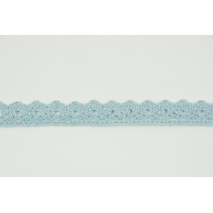 Cotton lace 15mm in a chilly blue color