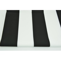 Cotton 100% black and white stripes 8cm CZ