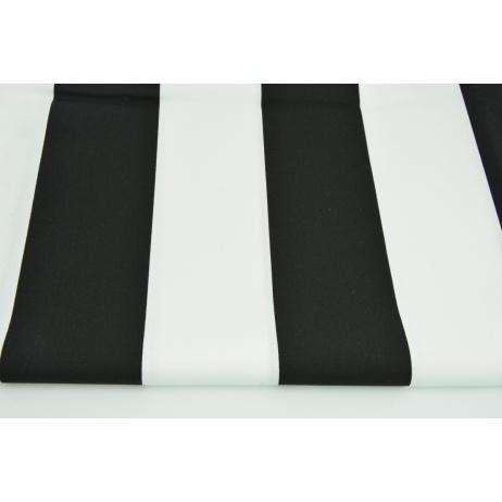 Cotton 100% black and white stripes 8cm CZ