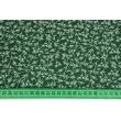 Bawełna 100% drobne gałązki na ciemnozielonym tle