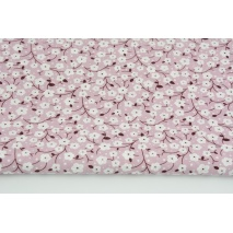 Viscose 100% cherry blossoms on a dirty heather background