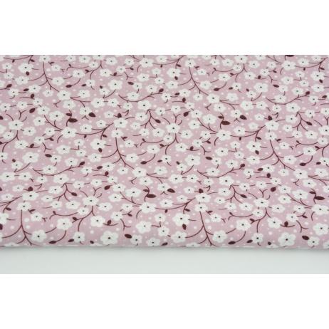 Wiskoza 100% kwiaty wiśni na brudnym wrzosie