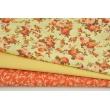 Bawełna 100% drobne gałązki na pomarańczowym tle