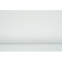 Cotton 100% waffle, white CZ