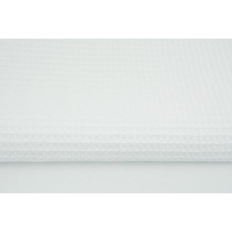 Cotton 100% waffle, white