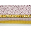 Viscose 100% cherry blossoms on a mustard background