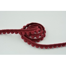 Ribbon balls burgundy