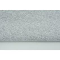 Looped knitwear plain light gray melange
