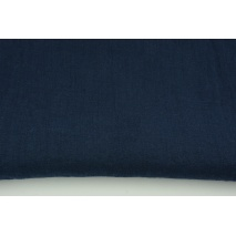 100% plain linen in navy color, softened