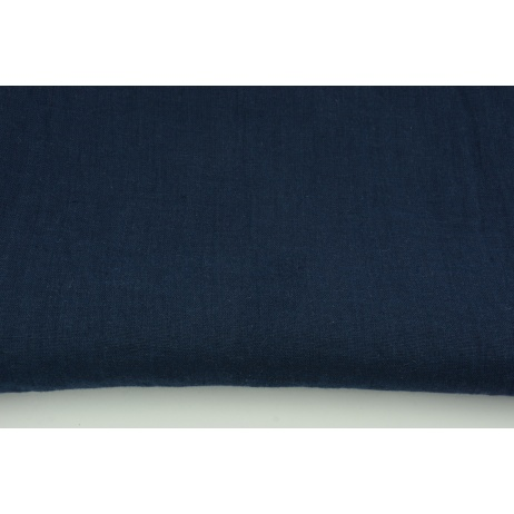 100% plain linen in navy color, softened