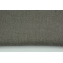 100% plain linen in a smoky gray color, softened