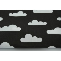 Cotton 100% white clouds on a black background II quality