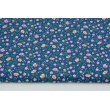 Cotton 100% pink-salmon meadow on a dark blue background PREMIUM