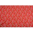 Cotton 100% cranes on a red background PREMIUM