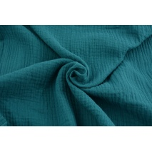 Double gauze 100% cotton plain petrol