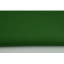 Thick clothing cotton fabric with elastane, dark green color