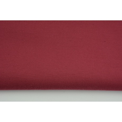 Thick clothing cotton fabric with elastane, beetroot color