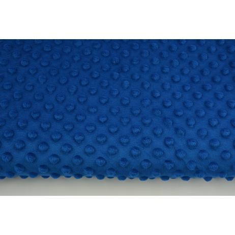 Polar z wytłaczanymi bąbelkami minky kobalt 380 g/m2