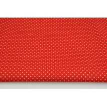 Cotton 100% golden dots 2mm on a red background PREMIUM