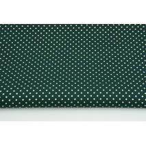 Bawełna 100% złote kropki 2mm na choinkowej zieleni PREMIUM