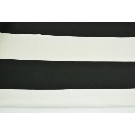 Home Decor, pasy czarne 9,5cm na białym tle 220g/m2