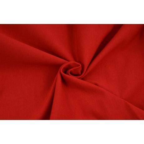 Dzianina, dresówka pętelkowa czerwona jednobarwna