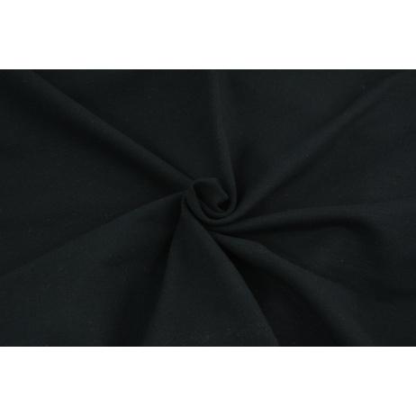 Dzianina, dresówka pętelkowa czarna jednobarwna