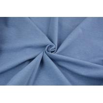 Looped knitwear plain blue melange