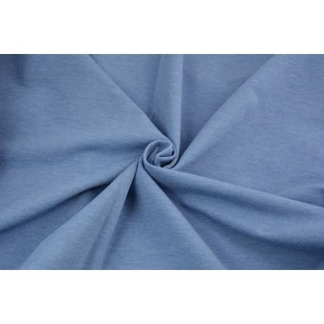 Dzianina dresówka pętelkowa, niebieski melanż jednobarwna