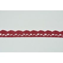 Cotton lace 15mm in a burgundy color (wave)