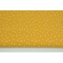 Bawełna 100% białe mikro trójkąty na miodowym tle PREMIUM