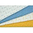 Cotton 100% white micro triangles on a honey background PREMIUM