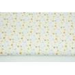 Cotton 100% small gray-honey dandelions on a white background PREMIUM