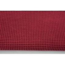 Cotton 100%, waffle fabric, plain bordeaux