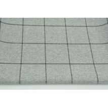 Clothing fabric, check on a gray background