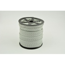 Cotton edging ribbon gray dotted