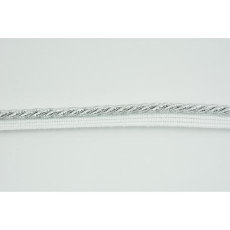 Sznurek srebrny z taśmą o średnicy 7mm