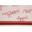 Cotton 100% japanese flowers on a light pink background PREMIUM