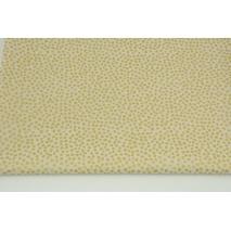 Bawełna 100% drobne złote plamki na beżowym tle PREMIUM