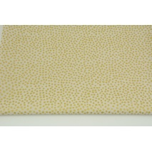 Cotton 100% small golden spots on a beige background PREMIUM