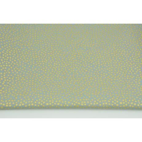Bawełna 100% drobne złote plamki na szarym tle PREMIUM