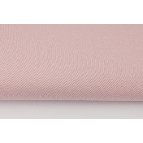 Drill, 100% cotton fabric in a plain powder dirty pink colour